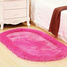 Oval Teppich Teppich Schlafzimmer Teppich Wohnzimmer Couchtisch Nacht Blanket Bay Fenster 71 × 141cm ( größe : 71×141cm )