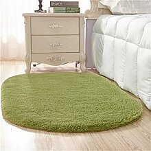 Oval Thicker Teppich Lovely Home Wohnzimmer Couchtisch Schlafzimmer Decke Bedside Mat Teppich (grün) ( größe : 160*250cm )