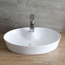 Oval über Theke Waschbecken Handwäsche