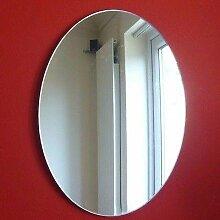 Oval Wandspiegel, plastik, 35 x 25 cm