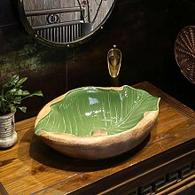 Ovale Art Basin im chinesischen Stil Restaurierung
