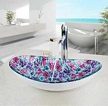 Ovale Glaswaschbecken Schiff Vanity Sink