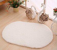 Ovale Schlafzimmer Bedside Couchtisch Teppich Türmatten ( Farbe : # 1 , größe : 40*60cm )