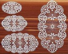 Ovale Spitzendecke, Tischdecke oval LILLI aus Plauener Spitze in 4 Größen