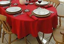 Ovale Tischdecke für 8-Personen-Tisch, 140x250cm, Ro