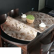 Ovale tischdecke/pvc,weichglas,transparente tabelle mat/wasserdicht,burn-proof,kristall-teller,kunststoff tischdecken/untersetzer-E 85x135cm(33x53inch)