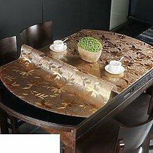 Ovale tischdecke/pvc,weichglas,transparente tabelle mat/wasserdicht,burn-proof,kristall-teller,kunststoff tischdecken/untersetzer-C 81x135cm(32x53inch)