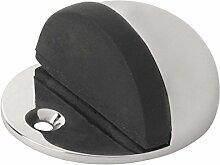 Ovaler Oval Türstopper, polierter Chrom, 2 Stück