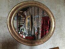 Ovaler Spiegel mit Goldrahmen, 19. Jh.