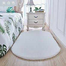 Ovaler zotteliger Teppich Teppich mit hohem