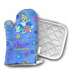 Oven Mitts And Hot Pad,Alice Im Wunderland
