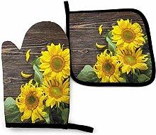 Oven Mitts And Potholders,Sonnenblumen Vintage