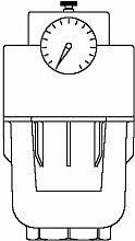 Oventrop Wasserfilter Aquanova Compact E mit Klarsichtkunststofftasse Trodamit T PN 16, DN 25