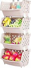 OviTop 4er Set Obst und Gemüse Korb Obst