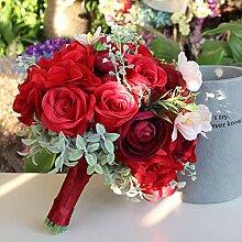 OVVO Brautstrauß künstliche Rosen