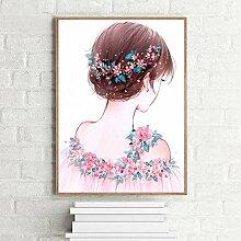 Owdqwg 5D Diamantmalerei Bild Fee Mädchen