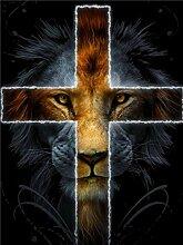 Owdqwg 5D Diamantmalerei Bild Jesus Kreuz und