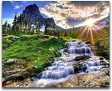 Owdqwg 5D Diamantmalerei Bild Wasserfall