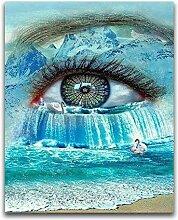 Owdqwg Diamantmalerei DIY Farbige Augen