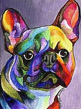 Owdqwg Diamantmalerei DIY französische Bulldogge