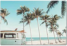 Owdqwg Kokosnussbaum Strand Buggy Landschaft