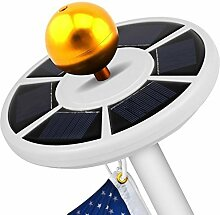 owikar Solar Fahnenmast Licht 26LED hellste Top