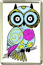 Owl Daughter Fridge Magnet, Wildlife by Art2Wear