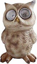 Owl Statue Garten Solar Power Licht LED - 65843