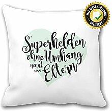 OWLBOOK Superhelden Eltern Kissen mit Aufdruck