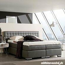 Oxford Hotelbett Amerikanisches Bett Designbett (160x200, Taupe)