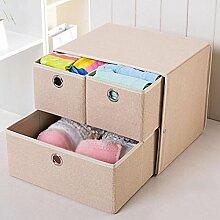 Oxford Tuch Aufbewahrungsbox doppelte Unterwäsche Lagerung Finishing Box Schublade Typ Falten Stoff Aufbewahrungsbox , #2