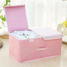 Oxford Tuch doppelte Abdeckung Kleidung Aufbewahrungsbox bedeckt mit Falten Dessous Aufbewahrungsbox Spielzeug Kleidung Finishing-Box , #3