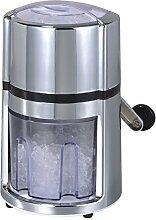 """Oxid7 Ice Crusher, Eiscrusher, Eiszerkleinerer, Eis Zerkleinerer """"Rondo"""" - Kunststoff, silber"""