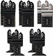 oxoxo New 100Gemischt Metall/Holz Pendelndes Multitool Quick Release Sägeblätter für Fein Multimaster Porter Kabel Black & Decker Bosch Dremel Craftsman Multi Tool