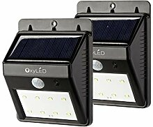 OxyLED Solar LED Wandleuchte Wandlampe mit