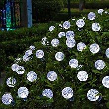 OxyLED Solar Lichterkette Außen  mit 30 LED Weiß