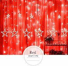 Oyedens 2.5M LED Lichterkette Sterne Weihnachten
