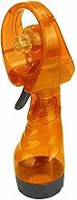 Oyedens Mini Beweglicher Hand KüHler Spray Batterie Ventilator, Orange