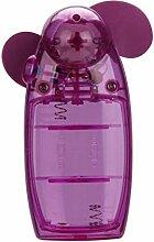 Oyedens Minihand Kühler Batterie Ventilator, Lila