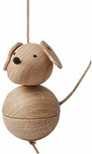 OYOY - Holzfigur Leika Hund, Eiche / Buche
