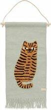 OYOY - Kinder-Wandteppich mit Tiermotiv, Tiger /