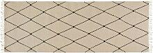 OYOY - Mino Teppich, 220 x 75 cm, offwhite /