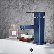 OYZY Platz Aluminium Wasserhahn, Haushalt Bad, Waschbecken Waschbecken Wasserhahn, heißen und kalten Becken, gemischte Wasser Drache, blau