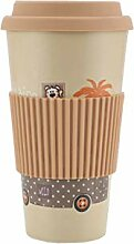 Ozaiic Coffee-to-go Becher, aus Bambus, Kaffee
