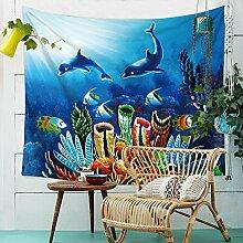 Ozean Fisch Wandteppich Unterwasser Welt