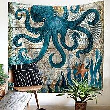 Ozean Oktopus Wandteppich Wandbehang Hippie