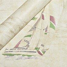 Ozean Segeln Vliestapete UK Seemann Stil Cartoon