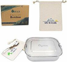 OzeanKonzept Brotdose Edelstahl | Lunchbox mit