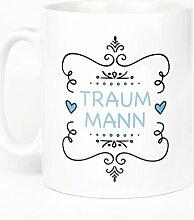 P&D Geburtstag Geschenkidee Tasse mit Spruch : Traummann Geburtstagsgeschenk Premium Geschenk Tasse Keramik, Original P&D Geschenkidee