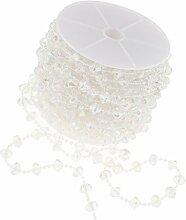 P Prettyia 1Roll Perlengirlande Perlenband
